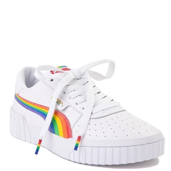 Puma Shoes | Rainbow Cali White Leather